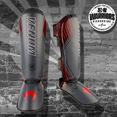 VENUM CONTENDER 2.0 SHIN GUARDS - BLACK/RED
