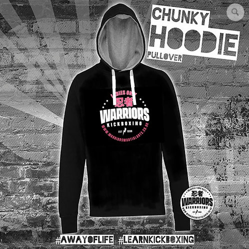 "Warriors 'Ladies Only"" Kickboxing Chunky Pull Over Hoodie (Adult)"