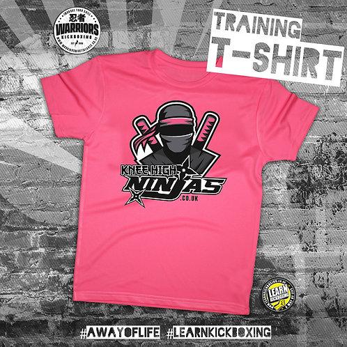 Knee High Ninja Training T-Shirt Pink (Junior)