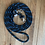 Thumbnail: Rope Reins, Large, 10mm, Black with Blue Fleck
