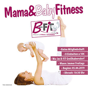 Flyer B-Fit Fitnessstudio
