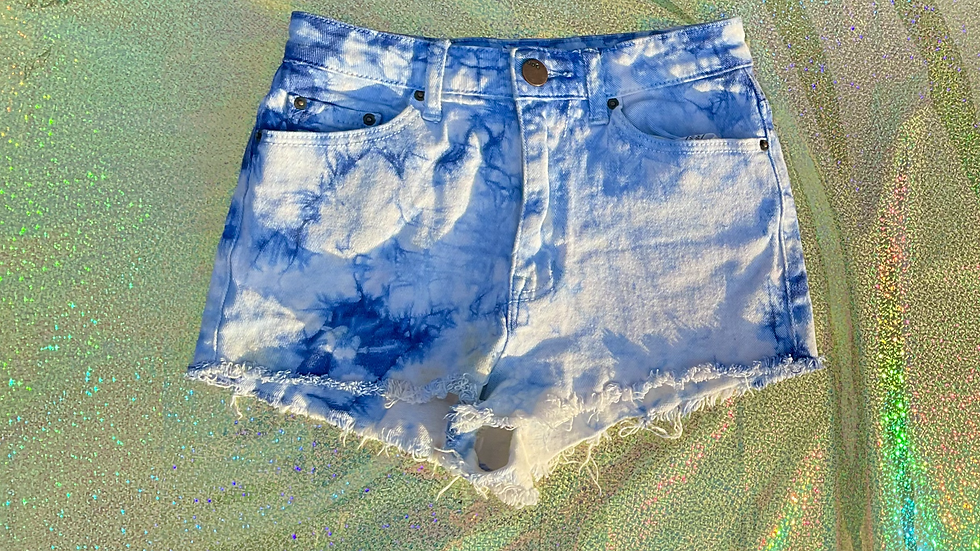 Acid Washed Distressed Jean Booty Shirts