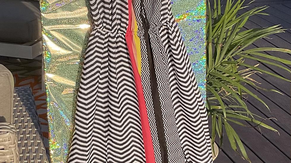Chevron Sun Dress w Crochet Design
