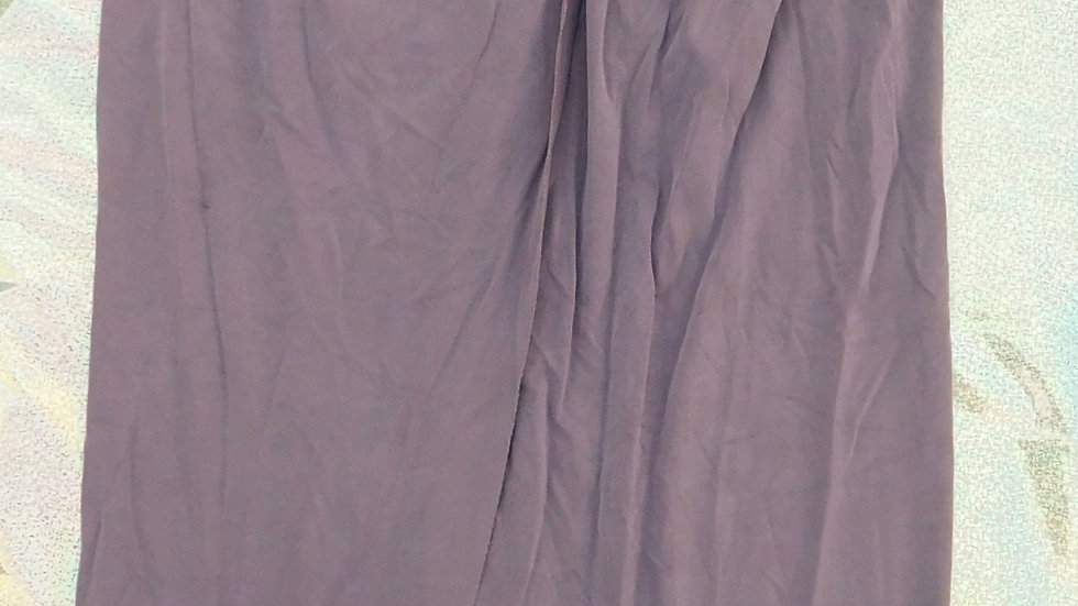 Taupe Tie Front Long Skirt