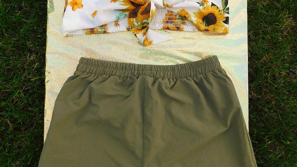 Sunflower Bandeau & Shorts Set