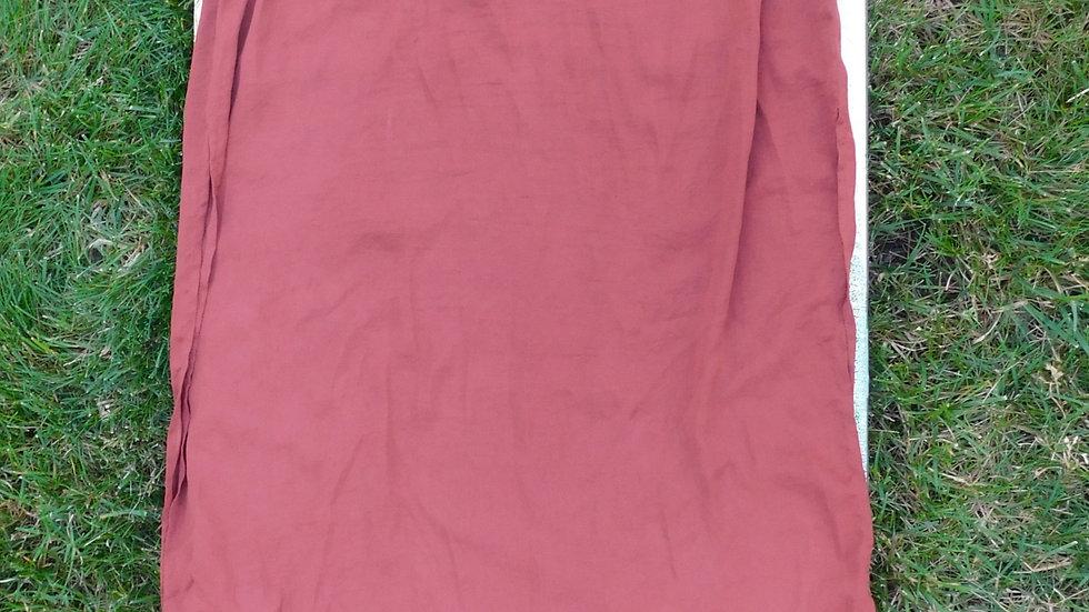 Silky Rust Split Leg Skirt