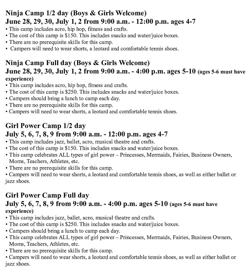2021 Summer Camps to Post - New font_003