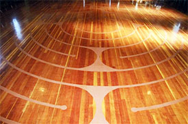 The labyrinth in the Unitarian Hall