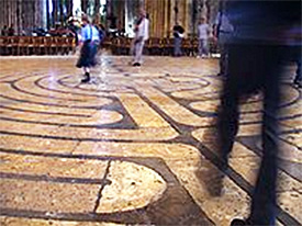 Walking the labyrinth at Chartres