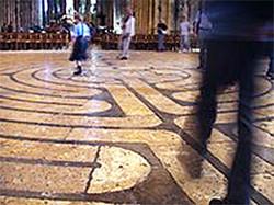 Walking the labyrinth at Chartres