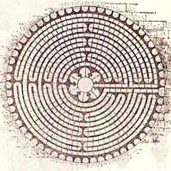 Labyrinth design in the 13th Century