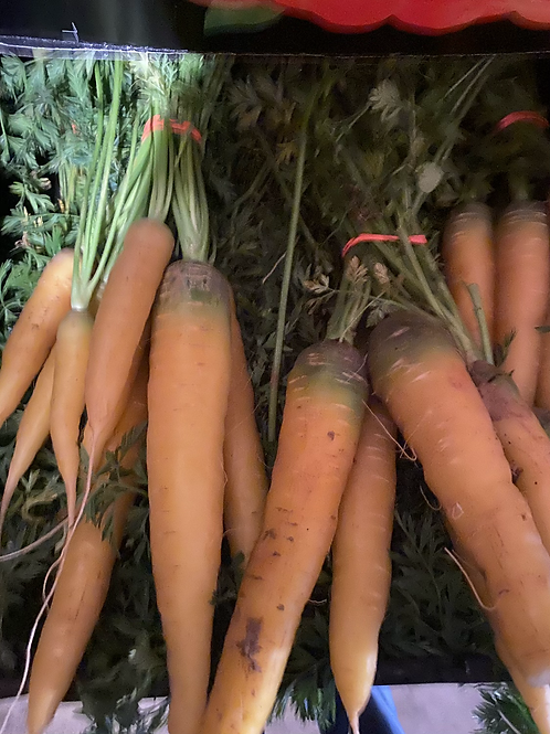 Yellow carrots-homegrown