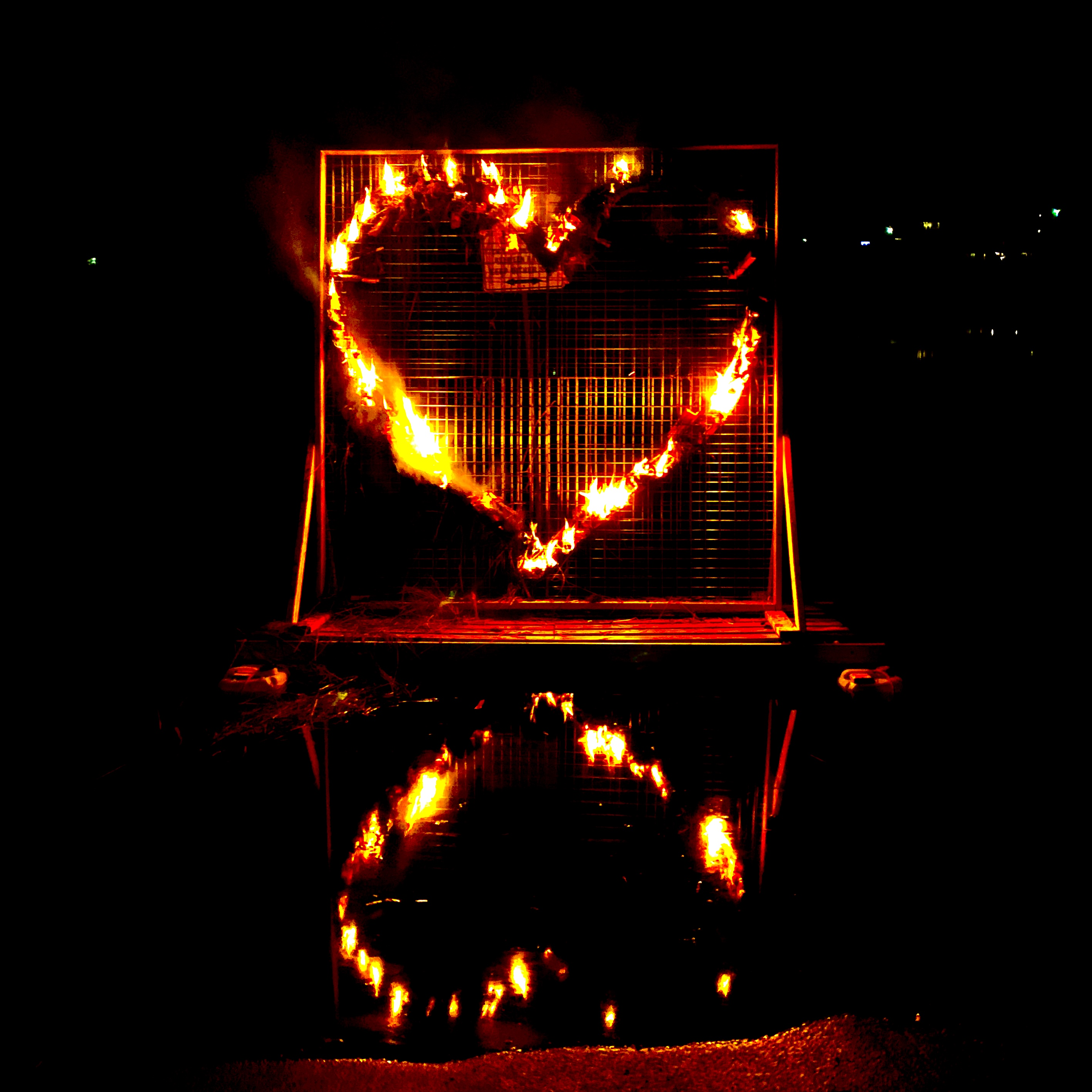 burning heart on Huon River