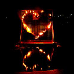 burning heart on Huon River
