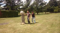 homehill winery outdoor sculpture