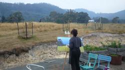 En Plein Air Ruth painting Thomas