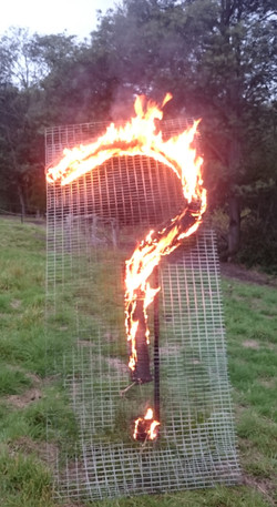 the burning question fire steel mesh