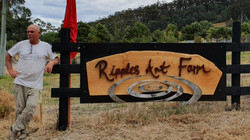 front gate sign - huon pine rosewood and