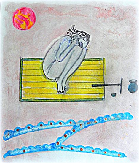 Andha ou asana de cécité, permettant d'en guérir et de voir la nuit. D'après une peinture miniature de 1884