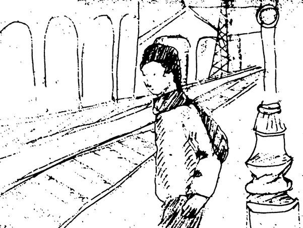 """Dans le train, il s'est allongé sur la banquette, s'est endormi.  Quand il s'est réveillé il s'est excusé auprès des personnes qui étaient près de lui """"oh pardon, je me suis endormi !"""" Personne ne lui a répondu.  Alors il s'est excusé d'avoir parlé. Les personnes autour de lui l'ont regardé de travers.  C'est que ça se fait pas de parler à des inconnus pour dire qu'on s'excuse d'avoir parlé de quelque chose qui ne les intéresse pas.  Alors il s'est tu. Il s'est dit, l'idéologie, la guerre bâtissent un empire. Un sourire et de la chaleur humaine bâtissent une civilisation. évidemment ce n'est certainement pas vrai et pas juste ce qu'il raconte.  """"Enfin, Pipo ! avec de la chaleur humaine on bâtit une vie pas une civilisation ! Une civilisation c'est des rapports de forces, des outils, des langages, une organisation.  - C'est la même chose qu'il m'a répondu."""