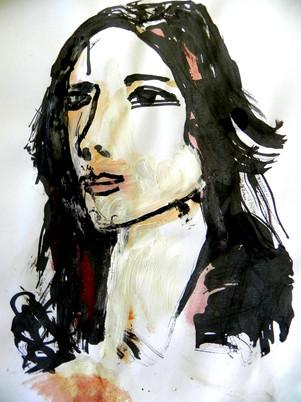 Portrait à la plume