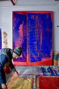 Jeffrey Kurland in Brooklyn studio 1 Dec