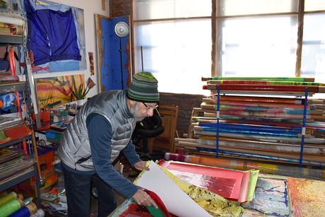 Jeffrey Kurland studio Brooklyn 7 Dec 20