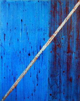Blue falls and splits