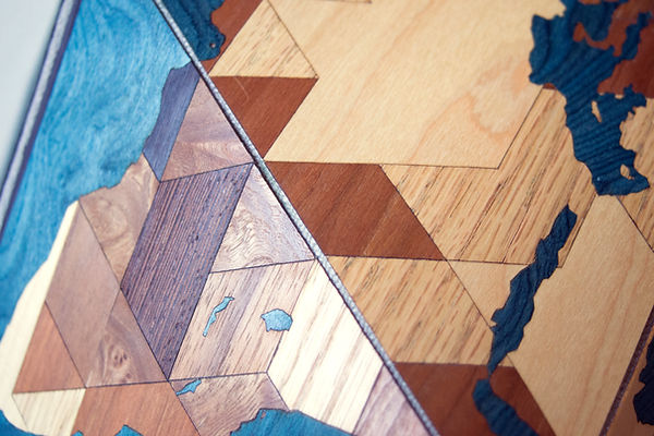 Dymaxion WoodOcean World detail