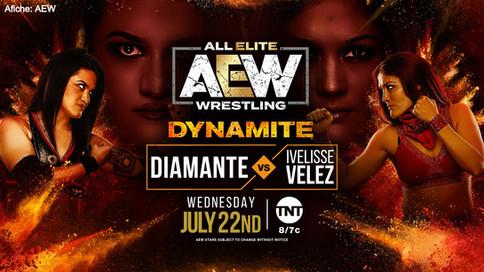 CHOCA EL CARIBE EN AEW: Ivelisse Vélez y Diamante a enfrentarse en Dymanite