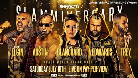 IMPACT Wrestling: Tessa Blanchard a defender el Campeonato Mundial ante cuatro luchadores en Slammiv