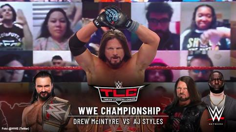 ÚLTIMA HORA: AJ Styles vs. Drew McIntyre en WWE TLC promete ser un combate titular fenomenal
