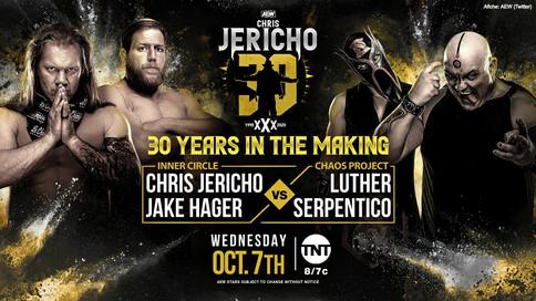 AEW: Un boricua chocará ante Chris Jericho en lucha en parejas esta noche en su Aniversario 30