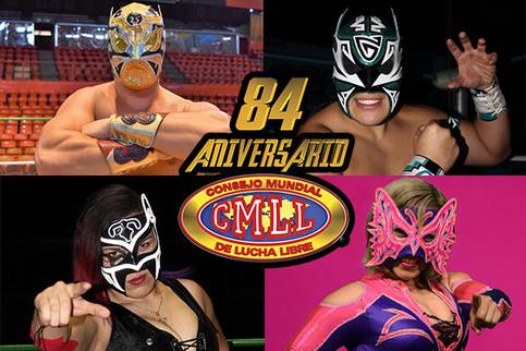 Cuatro máscaras estarán en juego esta noche en el Aniversario 84 de CMLL