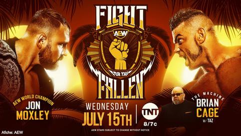 Moxley a defender el Campeonato Mundial de AEW ante Cage en Fight For The Fallen
