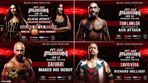 MLW FUSION Preview: Fatu vs. ACH, Grudge Match, Daivari debut and Savio Vega calls out Holliday