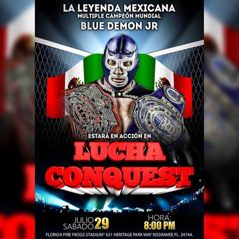 Evento Lucha Conquest a celebrarse en el mes de julio en la Florida Central