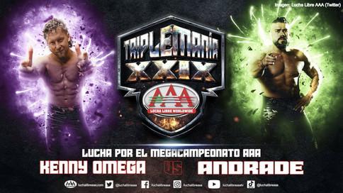 ¿Logrará Kenny Omega mantener la concentración antre Andrade El Ídolo en Triplemanía esta noche?