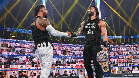 SmackDown: ¿Cuánto más durará la unión familiar entre Reigns y Uso? Regresa la Lucha de Escaleras