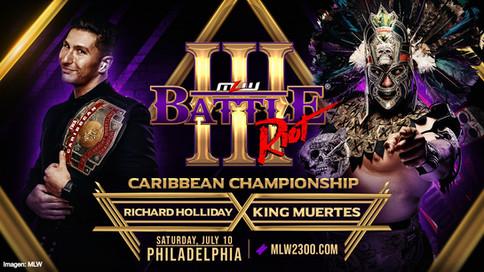 King Muertes vs. Richard Holliday a luchar por el Campeonato del Caribe en Filadelfia