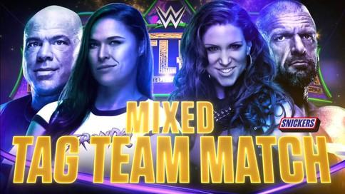 OFICIAL: Ronda Rousey y Kurt Angle vs. Stephanie McMahon y Triple H en WrestleMania 34 (VIDEO)