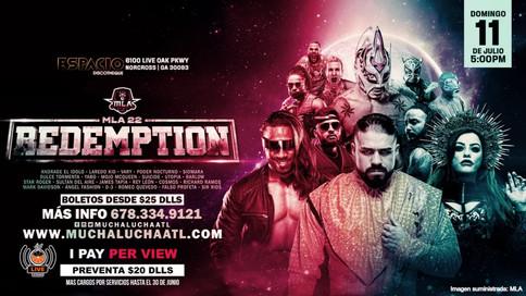 Andrade vs. Laredo Kid a enfrentarse en el primer evento de iPPV de Mucha Lucha Atlanta: REDEMPTION