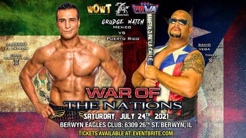 Los ex WWE Alberto del Rio y Savio Vega llegan a Chicago para luchar en la empresa WOWT
