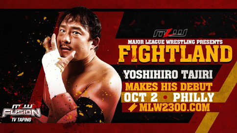 Tajiri debutará en MLW FIGHTLAND el 2 de octubre