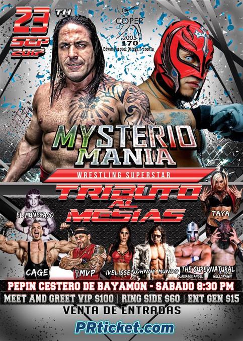 Johnny Mundo y Taya Valkyrie a luchar en el evento MysterioMania en Puerto Rico