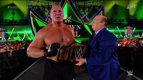 EN POCOS MINUTOS: Brock Lesnar derrota a Cain Velasquez en WWE Crown Jewel