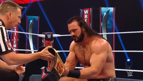 NUEVO CAMPEÓN: Drew McIntyre derrota a Brock Lesnar en WrestleMania 36