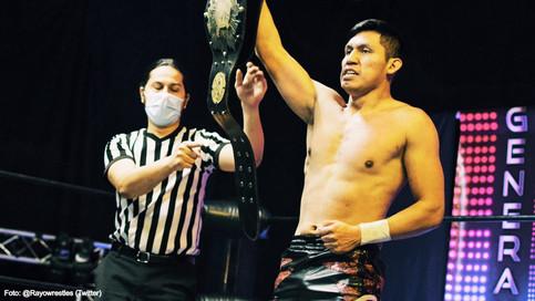 """Imparable el peruano Rayo con el International """"Open Challenge World Championship"""" en su cintura"""