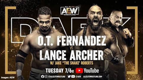 ÚLTIMA HORA: El puertorriqueño O.T. Fernández a luchar mañana en AEW Dark ante Lance Archer