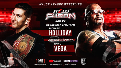 MLW: Caribbean Strap match headlines Wednesday's FUSION (VIDEO)